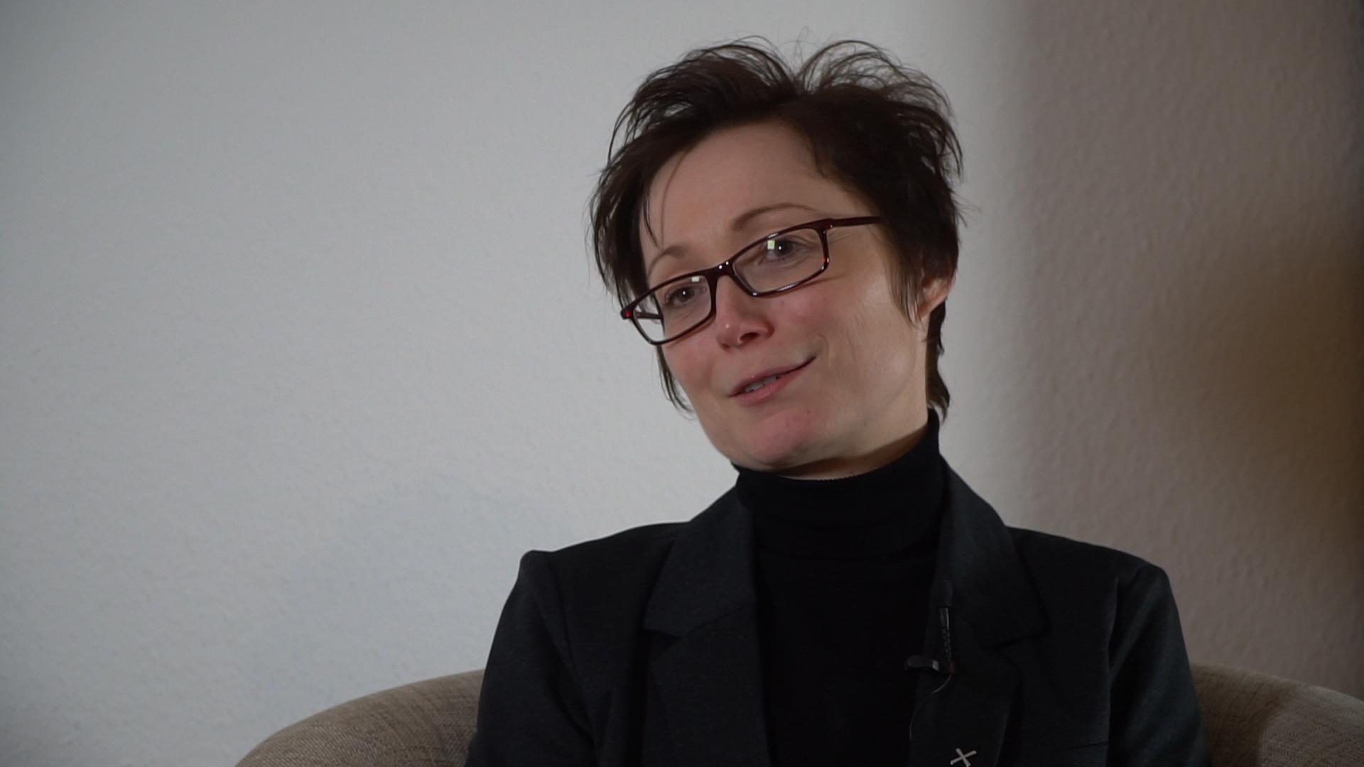 Tina Oehm-Ludwig wohtn direkt auf dem Aschenbergplatz.